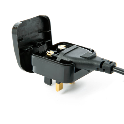 Euro to UK converter plug Black 5 AMP (ECP)
