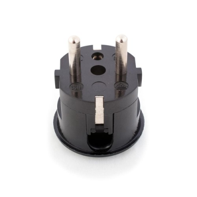 Black Rewireable European Plug