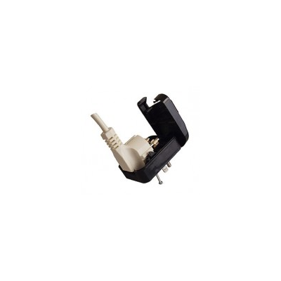 Earthed European to USA Converter Plug  Black (SAP3)
