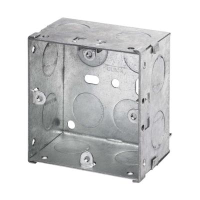 47mm Deep - Single Gang Metal Back Box (Dry Lining / Wall)