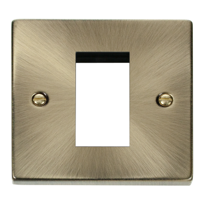 1 Gang Antique Brass Wall Plate Frame. 86x86mm