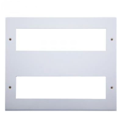 16 Gang Polar White Wall Plate Frame. 250x215mm