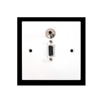 SG Wall Plate VGA and 3.5mm. Plug and Play