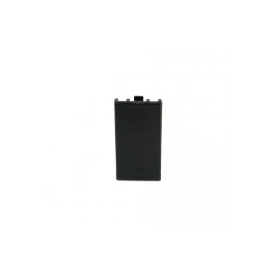 Black 25x50mm Reinforced Blank Euro Module.