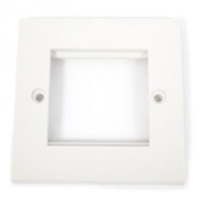 White Single Gang Wall Plate Frame. 2 Euro Modules