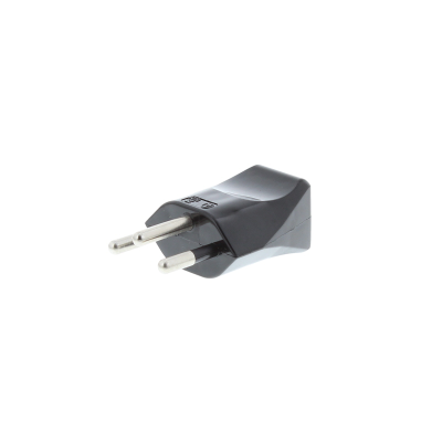 Black Swiss 3 Pin Rewireable Plug (Insulated Pins)