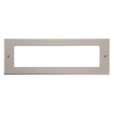 8 Gang Pearl Nickel Wall Plate Frame. 250x86mm