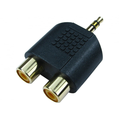3.5mm Stereo Male to Two RCA Adaptor