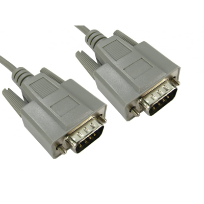 D9 Serial Cable. DB9 RS232 Lead. Male to Male. 2 Metres to 5 Metres
