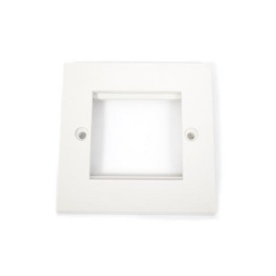 Single Gang Wall Plate Frame. 2 Euro Modules