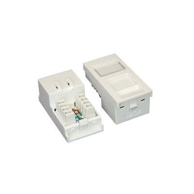 White or Black Cat5e Network Euro Module