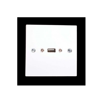 Single Gang USB A Wall Plate. 1 to 3 Metres