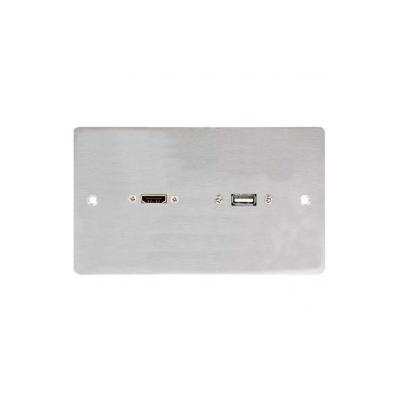 Metal DG Wall Plate. Hdmi Usb B Plug And Play
