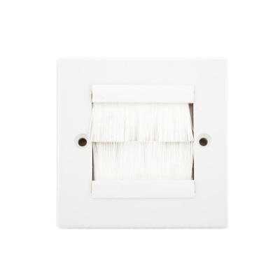 SG Brush Wall Plate White Frame