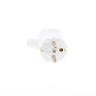 White Schuko Rewirable Plug Side Cable Entry Mould 1mm sq