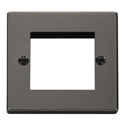 2 Gang Black Nickel Wall Plate Frame. 86x86mm