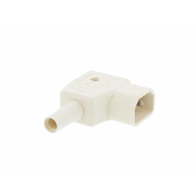 White C14 Right Angle Rewirable IEC. 250v 10A IP20