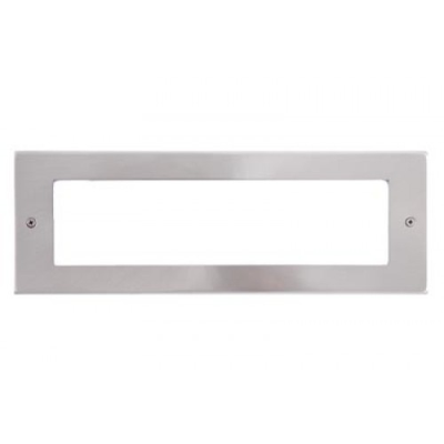 8 Gang Satin Chrome Wall Plate Frame. 250x86mm