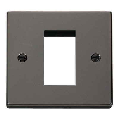1 Gang Black Nickel Wall Plate Frame. 86x86mm