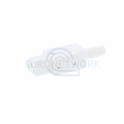 White C13 Straight Rewireable IEC. 10A 250v IP20