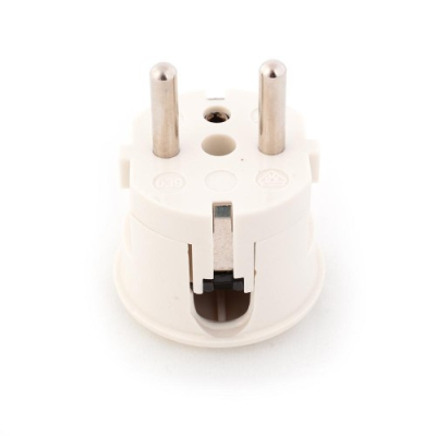 White Rewireable European Plug - Side Entry (VDE Approved)