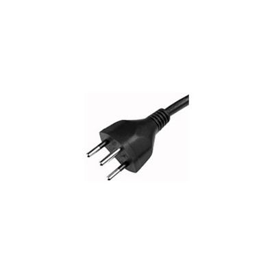 2m Swiss Insulated to IEC C13 Mains Lead - Black