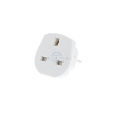 UK to Europe Travel Adaptor  - White (10 Amp)