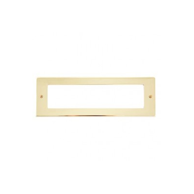 8 Gang Polished Brass Wall Plate Frame. 250x86mm