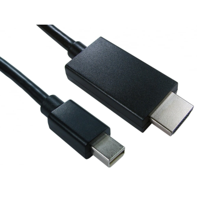 1m Mini DisplayPort Male to HDMI Male Cable