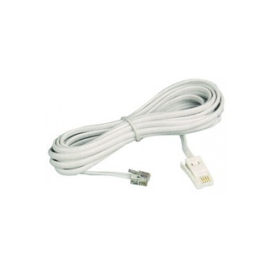 1m Modem Cable Bt - Rj11 Plug Straight Through