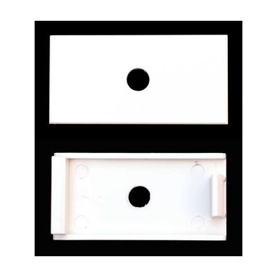 White 6.3mm Hole Clip-In Euro Module. 25x50mm