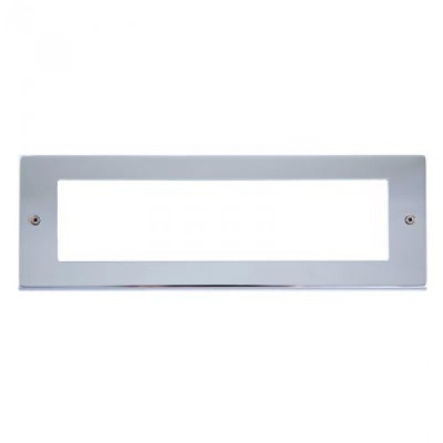 8 Gang Polished Chrome Wall Plate Frame. 250x86mm