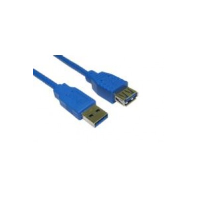 Blue 1 Metre USB A Male to A Female Superspeed 3.0 Cable