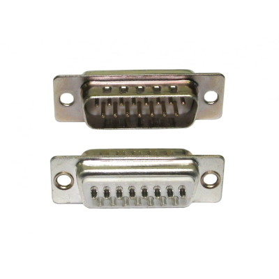 D15 Male Plug Connector (Solder Type)