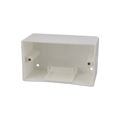 70mm Deep Double Gang Plastic Back Box