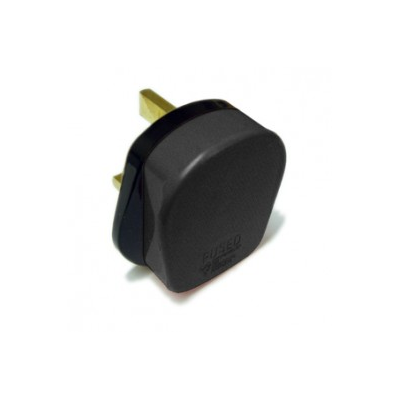 Black 5 Amp Rewireable UK Plug