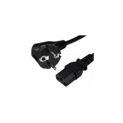 European to Right Angle C13 Power Cable. 2 Metre