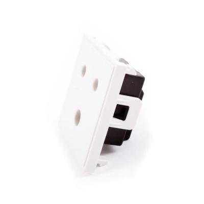 15 Amp Round Pin Socket. Euro Module.
