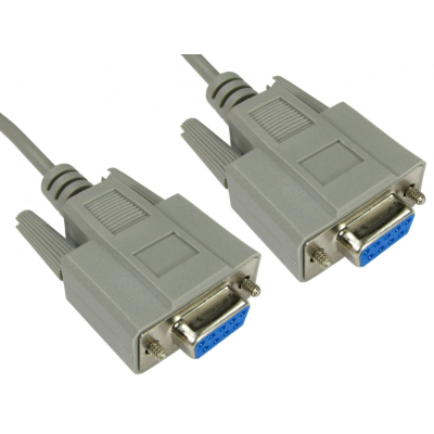 10m D9 Null Modem Cable - Female to Female