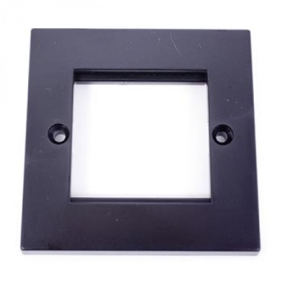 Black Single Gang Wall Plate Frame. 2 Euro Modules