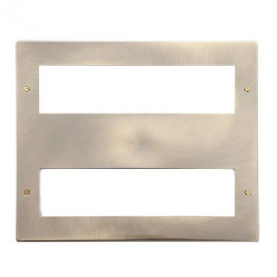 16 Gang Antique Brass Wall Plate Frame. 250x215mm