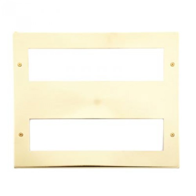 16 Gang Satin Brass Wall Plate Frame. 250x215mm