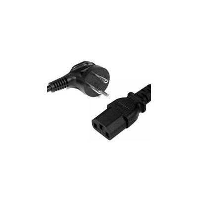 2.5m Israeli plug to IEC C13 Mains Lead - Black