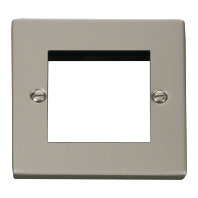 2 Gang Pearl Nickel Wall Plate Frame. 86x86mm