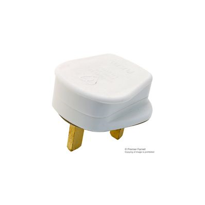 13 Amp Rewireable UK Plug - White