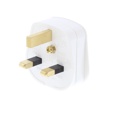 White 13 Amp Rewireable UK Plug