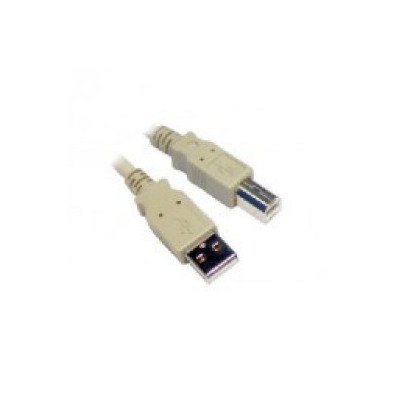 1 Metre Beige USB A to B Cable.