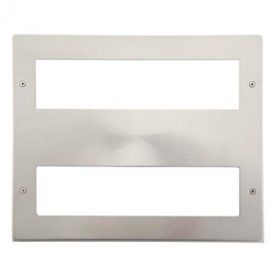 16 Gang Satin Chrome Wall Plate Frame. 250x215mm