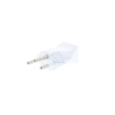 White Swiss 3 Pin Rewireable Plug (Insulated Pins)