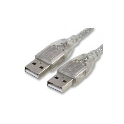 Transparent 3 Metre USB A Data Cable.